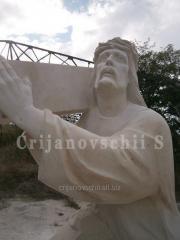 Cкульптура Иисус с крестом