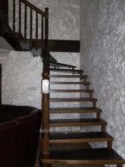 Wooden ladder of Scari aeriene look 37