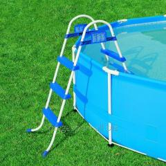 Ladder for pools with height of a board of 91 cm