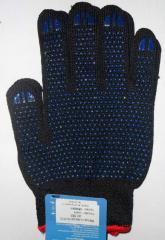 Перчатки рабочие трик. из х/б пряжи с точкой ПВХ Арт. 563