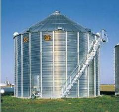 The bunker for grain storage