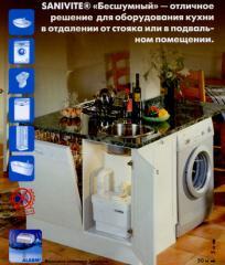 Насос SANIFLO - SANIVITE SILENCE для откачивания сточной воды из дущевои и кухни.