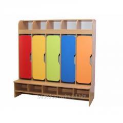 Шкаф детский 5-местный с фигурными дверями ГЕЛIКА 28350