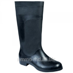 PVC boots are black