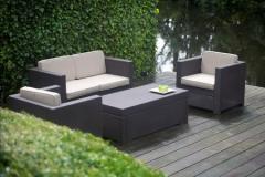 Garden an artificial rattan furniture