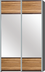 Sliding wardrobe 1360 2D Milano is new