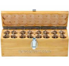 Комплект магнитов в деревянном чемоданчике