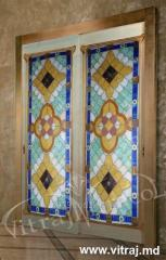 Витражи для дверей в стиле Tiffany