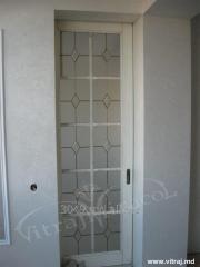 Stained-glass windows for doors with fatsety