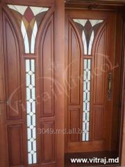 Витражи дверные в стиле Tiffani