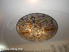 Stained-glass windows for a ceiling