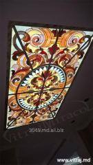 Stained-glass windows ceiling in the Regalead