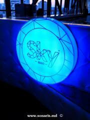 Печатная продукция Casete luminoase in Sky Bar