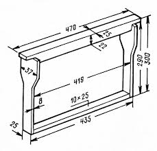 Рамка ульевая деревянная 435х300 мм. заготовка