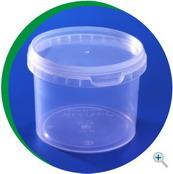 Bucket 350 ml, plastic with a cover.