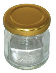 Glass jar of 35 ml. with a cover