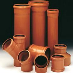 Pipes and fitting for the sewerage