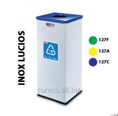 Garbage can of Eko Square 50l Inox Code: 127