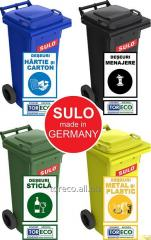 The container for separate collecting garbage the