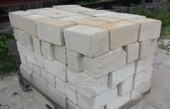 Blocks from white limestone