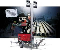 Mobile lighting EFA 830 S4 installation