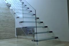 Ladder glass. handrail glass.