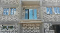 Windows made of metal for the house