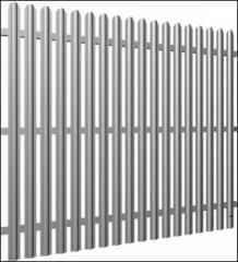 Забор из сварной сетки ПВХ Supra H=1,5 м вид 1