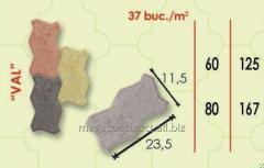 Тротуарная плитка 23,5m; 42/mm; 11,5 mm, вид 5
