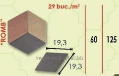 Тротуарная плитка 19.3m; 60mm; 19.3 mm