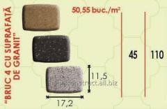 Тротуарная плитка 17,2m; 45mm; 11,5 mm