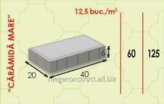 Тротуарная плитка 40m; 60mm; 20 mm