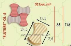 Тротуарная плитка 24,5m; 56mm; 17,5 mm