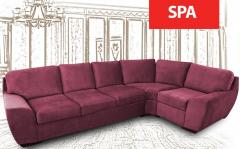 Angular sofa of SPA