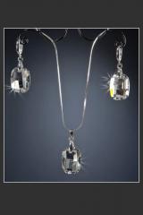 "Комплект ""Шик"", кристаллы SWAROVSKI"