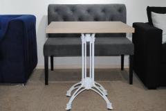 Стол №8 700*700*36 мм (нога алюминиевая белая)