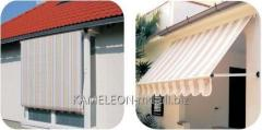 Awnings for summer cottage