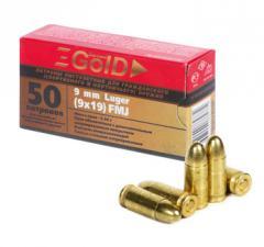 Пистолетные патроны BARNAUL 9mm Luger Gold