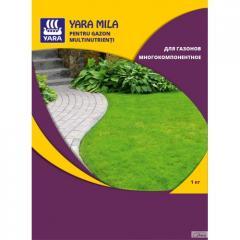Удобрение Yara Mila для газонов многокомпонентное 1кг.
