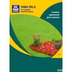 Удобрение Yara Mila осеннее удобрение для газонов