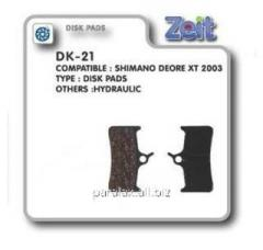 Колодки дисковые Zeit DK-21
