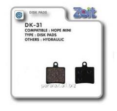Колодки дисковые Zeit DK-31
