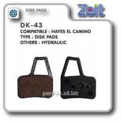 Колодки дисковые Zeit DK-43