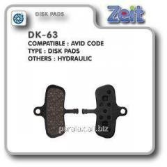 Колодки дисковые Zeit DK-63