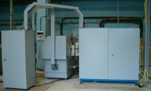 The EHS-5000 machine for pulse electrochemical processing of shovels of the compressor