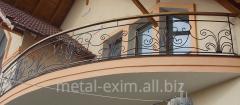 Balcony handrail metal