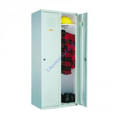 Металлический одежный шкаф без перегородки -