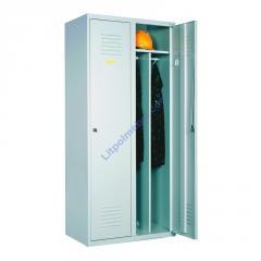 Шкаф одежный металлический с перегородкой -...