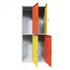 Локер-ячеечный металлический шкаф на 4 отделения