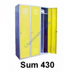 Металлический гардеробный шкаф трёхдверный Sum 430